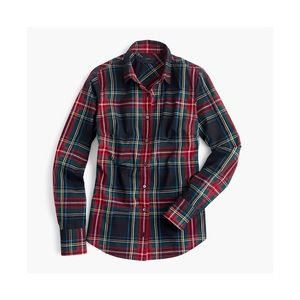 J Crew Perfect shirt in Stewart plaid size 6